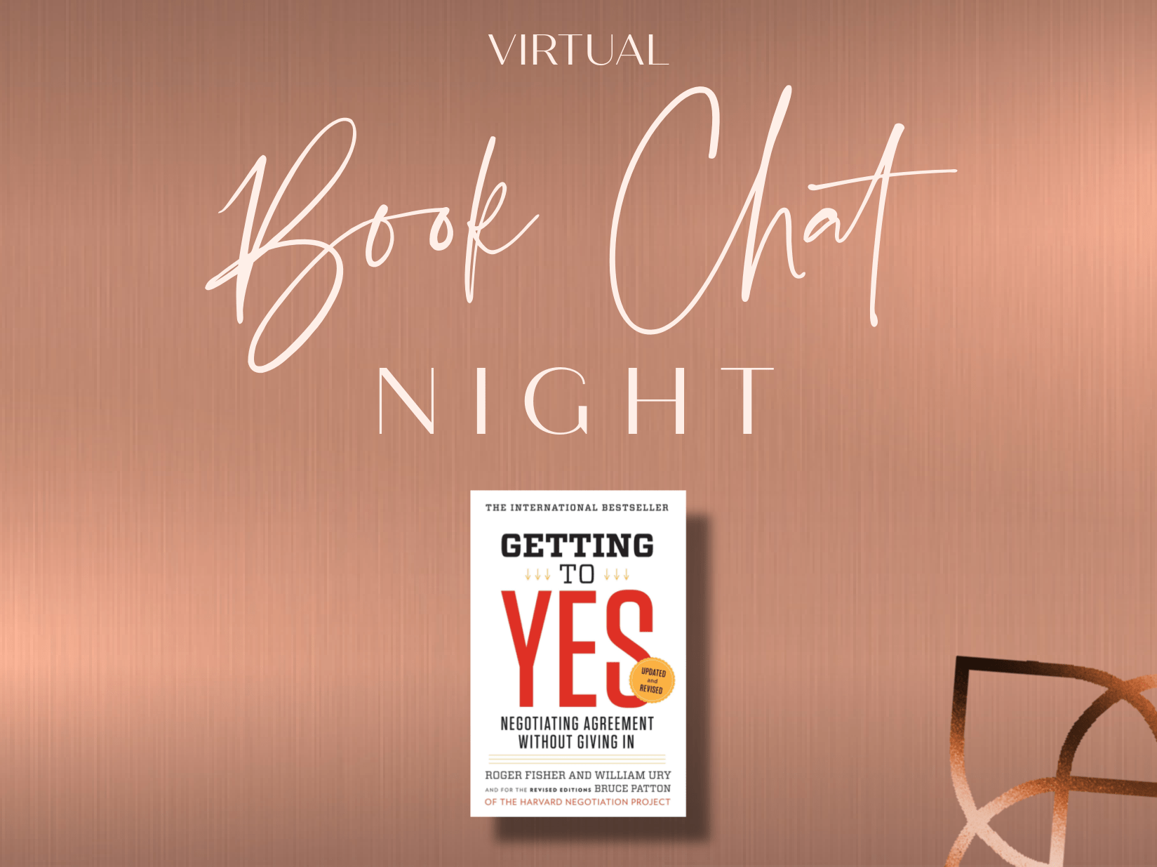 book club chat night on Getting to Yes