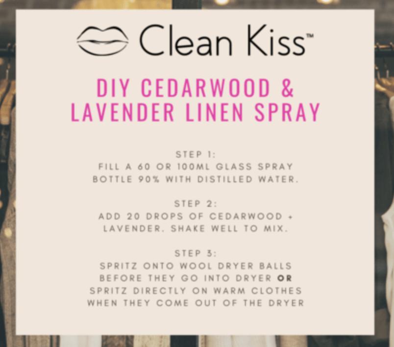 Clean Kiss DIY Linen Spray