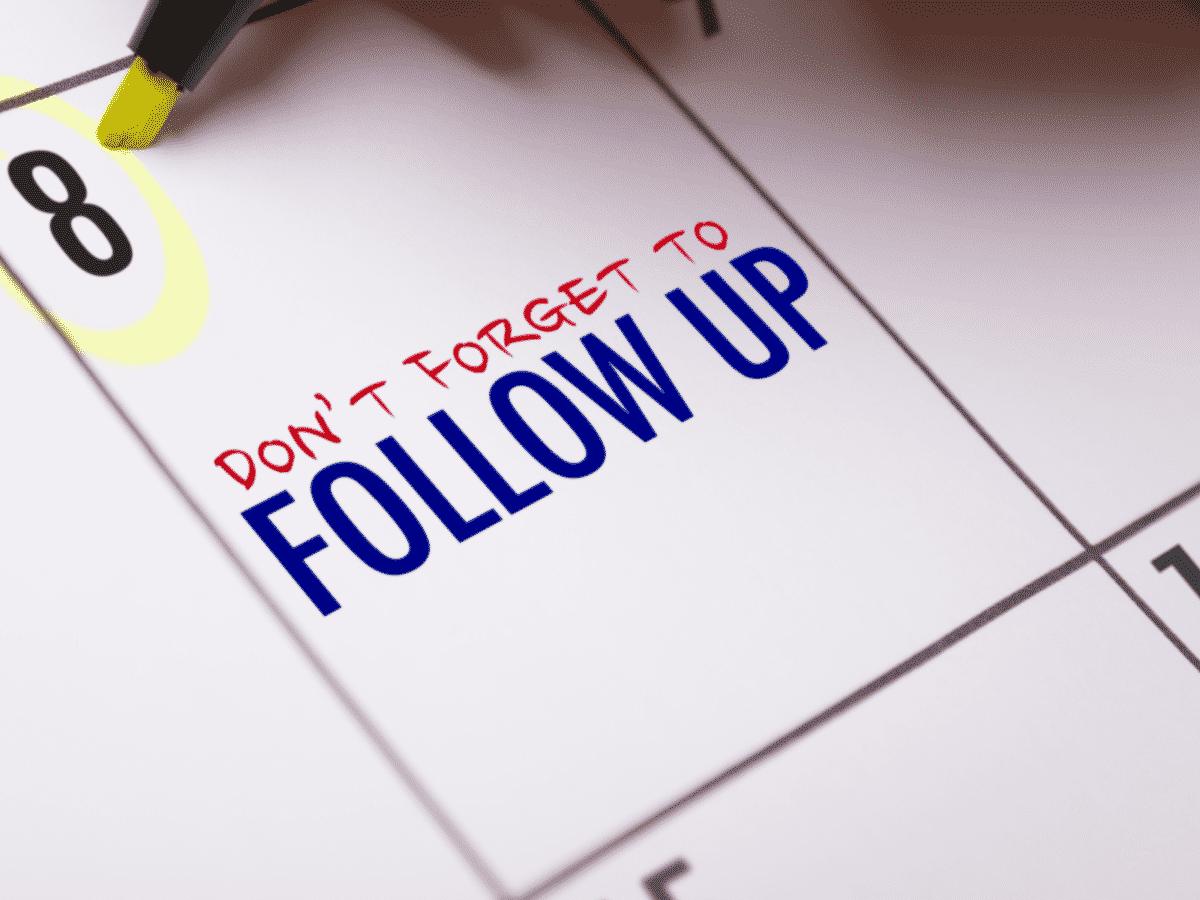 follow up sales tips