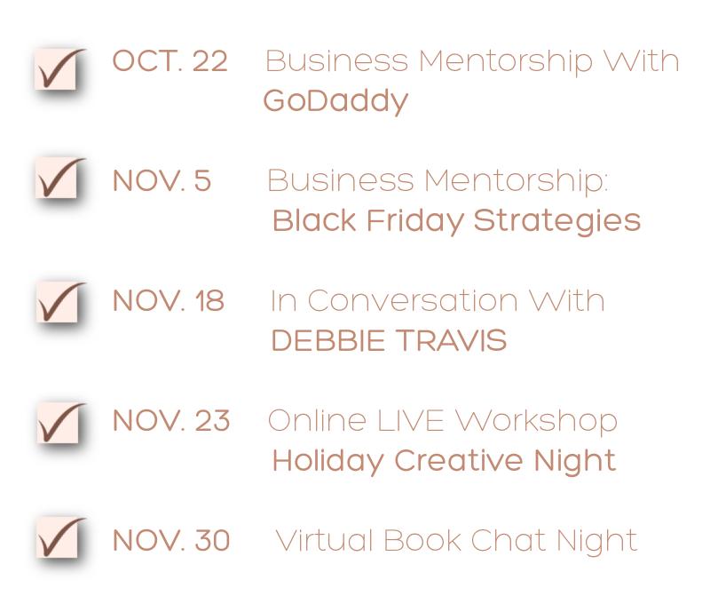 Upcoming Events - Oct.-Dec 2021-2